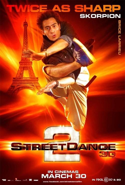 StreetDance 2: il character poster di Skorpion con Brice Larrieu