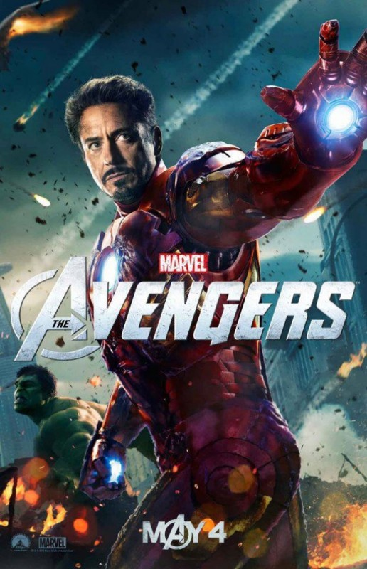 The Avengers: nuovo character poster di Iron Man/Robert Downey Jr. Sullo sfondo appare Hulk