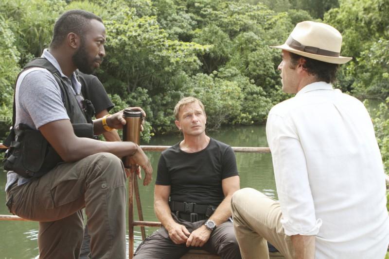 The River: Thomas Kretschmann, Paul Blackthorne e Shaun Parkes in una scena (episodio A Better Man)