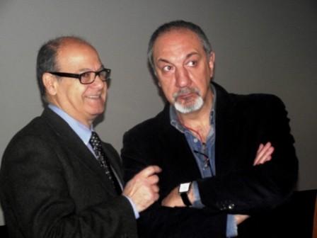 Luigi Pallotta con Enzo De Camillis alla presentazione di UNO STUDENTE DI NOME ALESSANDRO