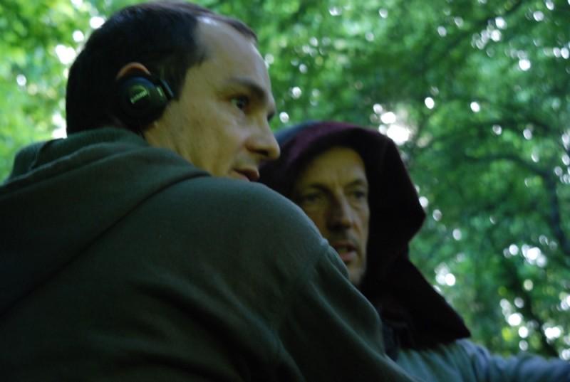 Sàmara: il regista Massimo D'orzi insieme a Marco Baliani sul set del film