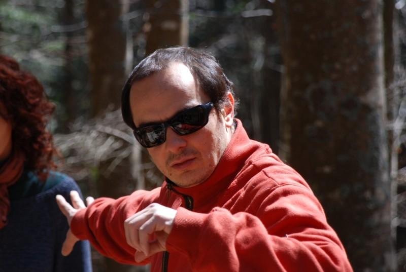 Sàmara: il regista Massimo D'orzi sul set del film