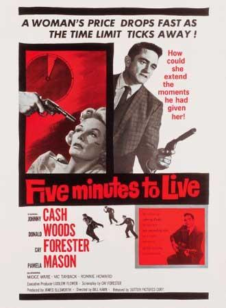 Five Minutes to Live: la locandina del film