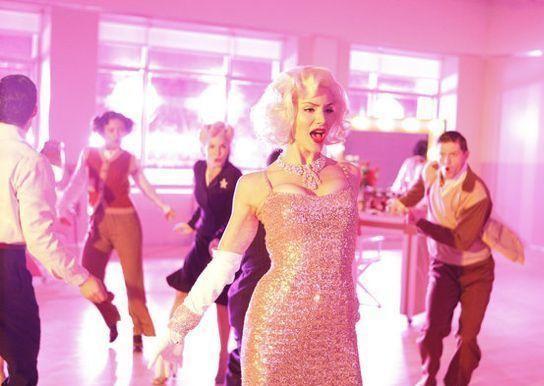 Katharine McPhee nel ruolo di Marilyn Monroe in una scena dell'episodio Il secondo provino di Smash