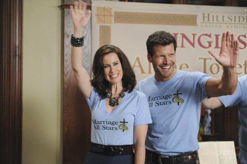 GCB: Miriam Shor e Mark Deklin nell'episodio Love Is Patient