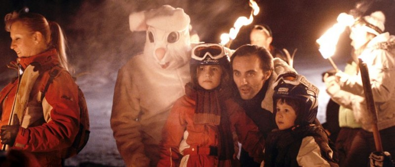 Stefano Cassetti con Léon Brachet e Valentine Klingberg in Le paradis des bêtes
