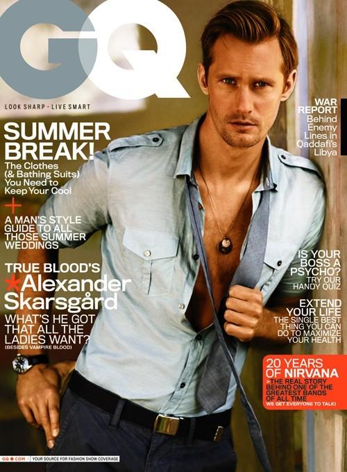 Alexander Skarsgard sulla cover di GQ