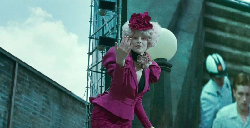 Elizabeth Banks nel film Hunger Games