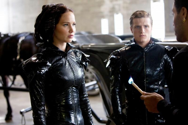 Jennifer Lawrence e Josh Hutcherson in Hunger Games