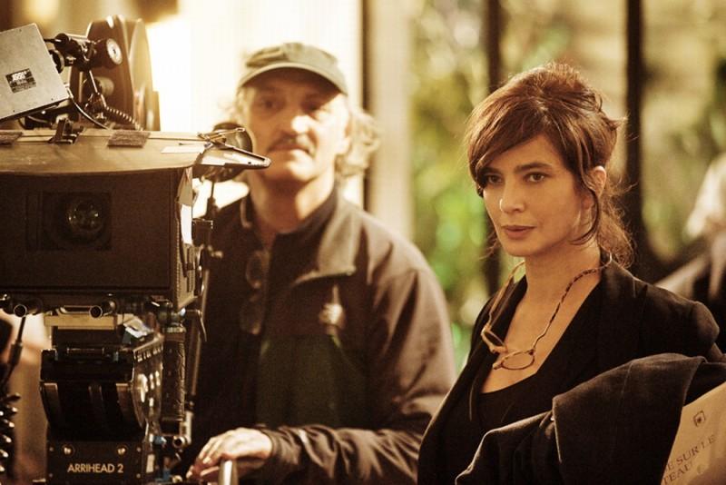 Ciliegine: Laura Morante, regista e interprete del film, in un'immagine sul set