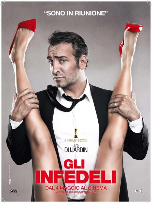 Gli infedeli: Jean Dujardin 'in riunione' in uno dei teaser poster italiani del film