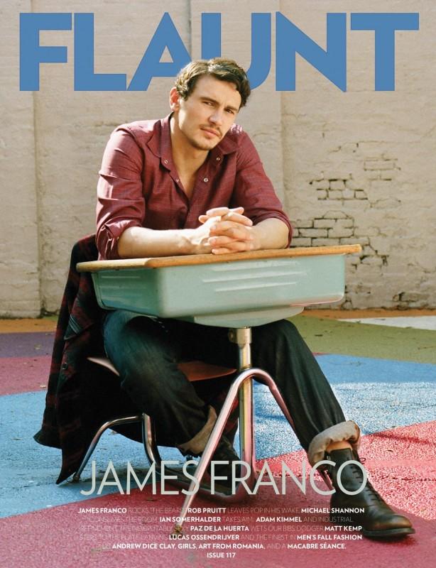 James Franco sulla cover del magazine Flaunt