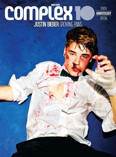 Justin Bieber sulla cover del magazine Complex