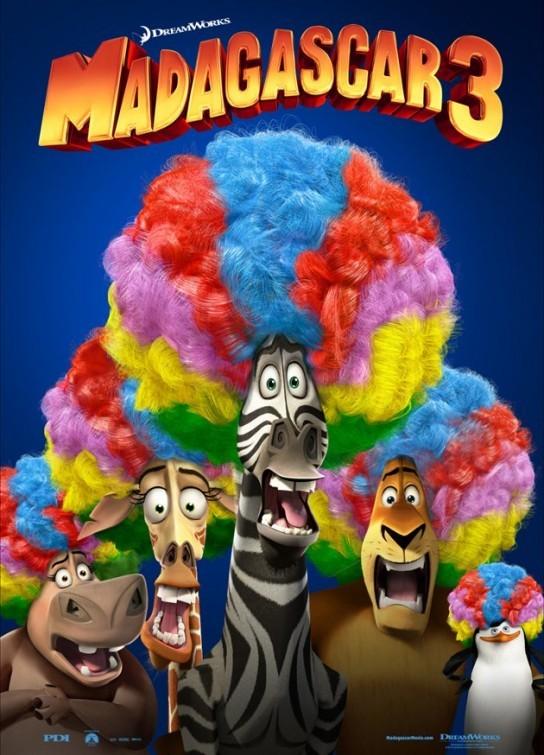 Madagascar 3: un divertente poster USA