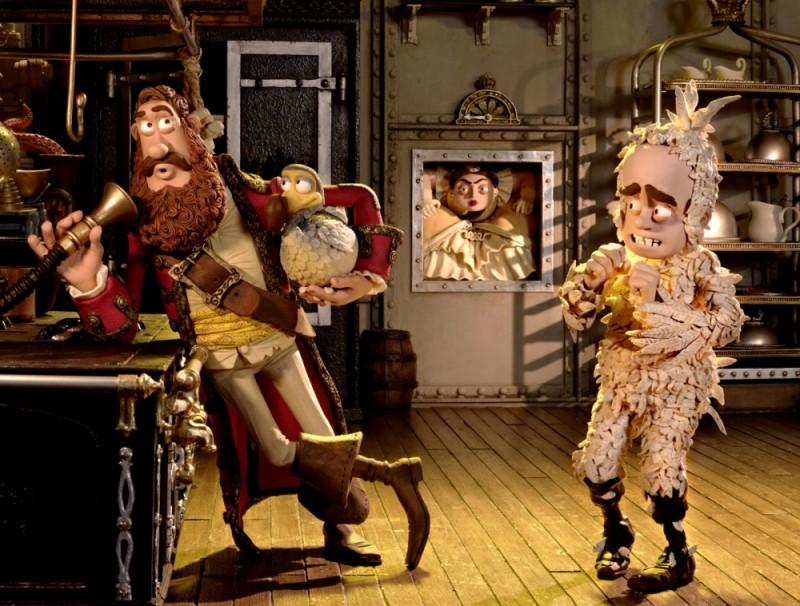 Pirati! Briganti da strapazzo: Cannone Matto con Polly e la Sovrana Piantagrana in una divertente scena del film