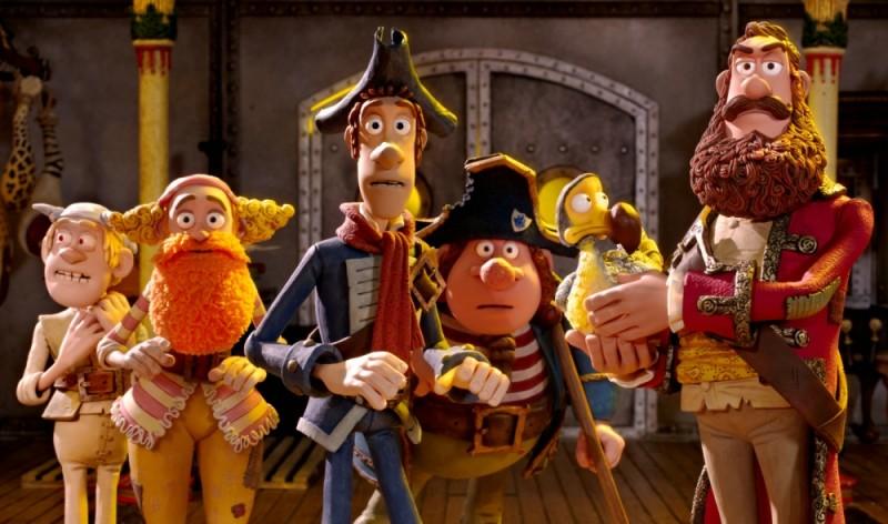 Pirati! Briganti da strapazzo: il Capitano dei Pirati insieme alla sua ciurma in una scena del film