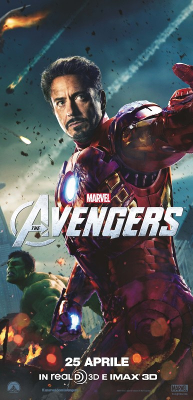 The Avengers: Robert Downey Jr. è Iron Man in uno dei character poster italiani del film in coppia con Hulk