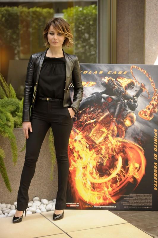 Violante Placido alla premiere romana di Ghost Rider: Spirito di vendetta. L'attrice è vestita da Gucci (coll. Spring-Summer 2012)