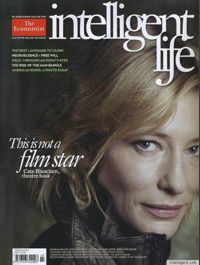 Cate Blanchett sulla cover di Intelligent Life senza makeup nè fotoritocco. Completamente al naturale!