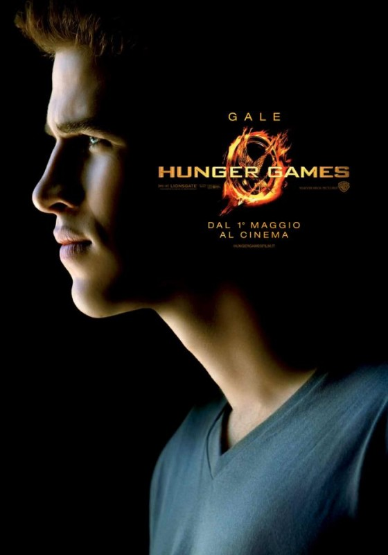 Hunger Games: Character Poster italiano per Gale/Liam Hemsworth