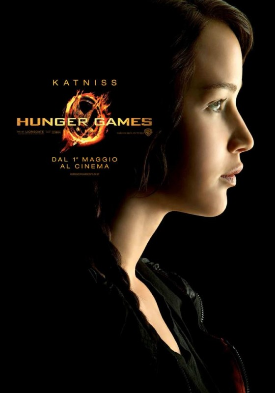 Hunger Games: Character Poster italiano per Katniss/Jennifer Lawrence