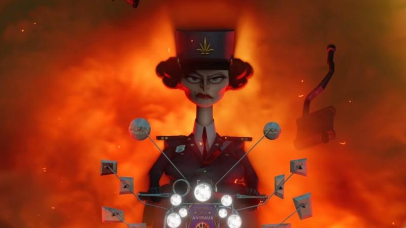 Madagascar 3: ricercati in Europa, il capitano di polizia Chantel Dubois, doppiato da Frances McDormand, in una scena del film