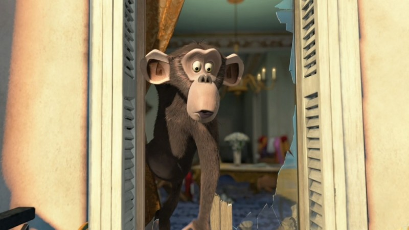 Madagascar 3: ricercati in Europa, l'amica scimmietta in una scena del film