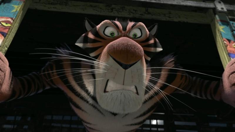 Madagascar 3: ricercati in Europa, la rabbiosa tigre del circo in una scena del film