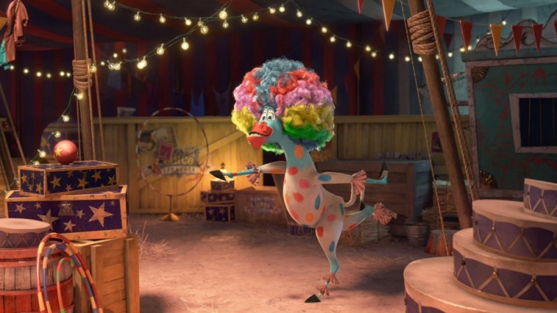 Madagascar 3: ricercati in Europa, una colorata immagine circense del film