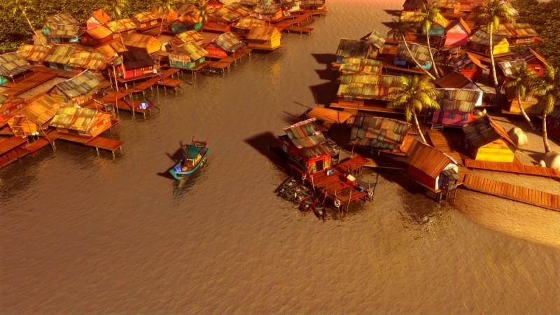 Seafood - Un pesce fuor d'acqua: il panorama in un'immagine dall'alto tratta dal film