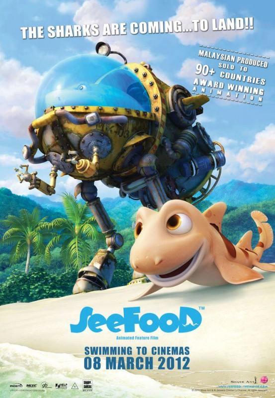 Seafood - Un pesce fuor d'acqua: il poster ufficiale internazionale del film