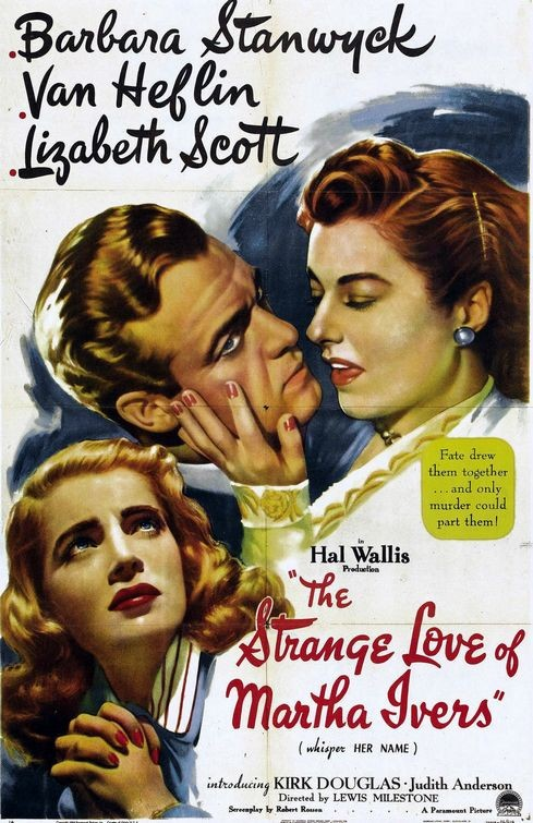 Lo strano amore di Marta Ivers: la locandina del film
