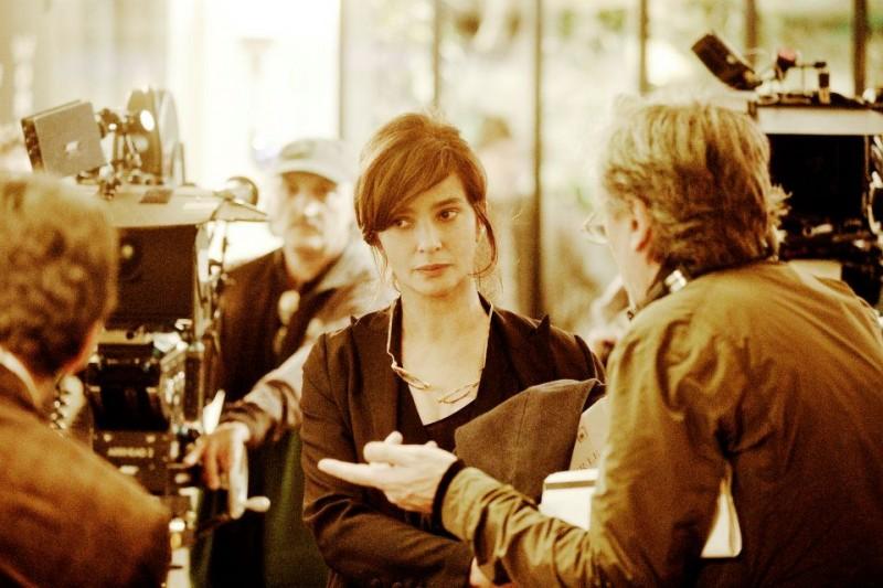 Ciliegine: Laura Morante, regista e interprete del film, si prepara a girare sul set del film