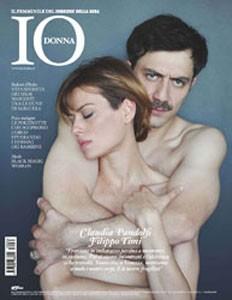 Filippo Timi e Claudia Pandolfi sulla cover di Io Donna per il film Quando la notte