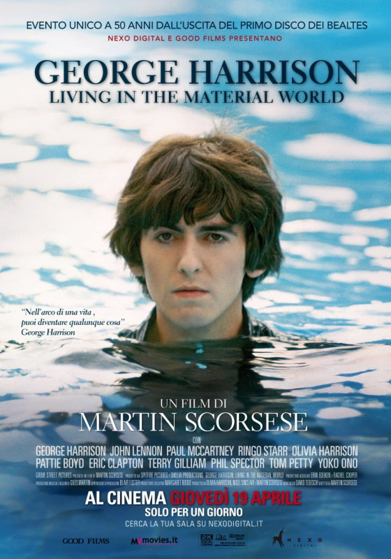 George Harrison: Living in the Material World, la locandina italiana del film