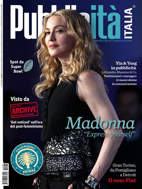 Madonna sulla cover del magazine Pubblicità Italia