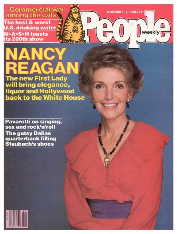 Nancy Reagan sulla cover di People, nel 1980