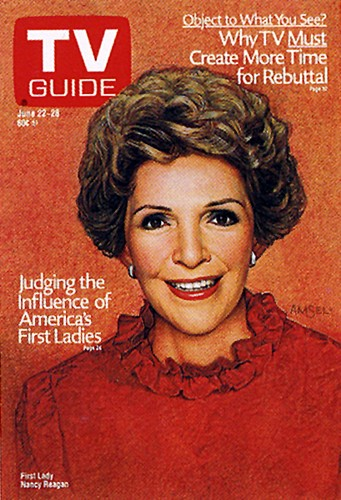 Nancy Reagan sulla cover di TVGuide