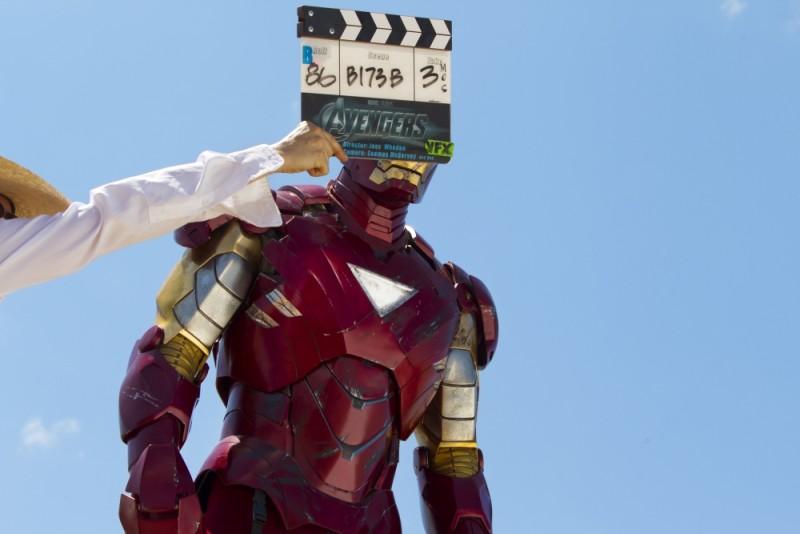 Iron Man si prepara al ciak sul set di The Avengers