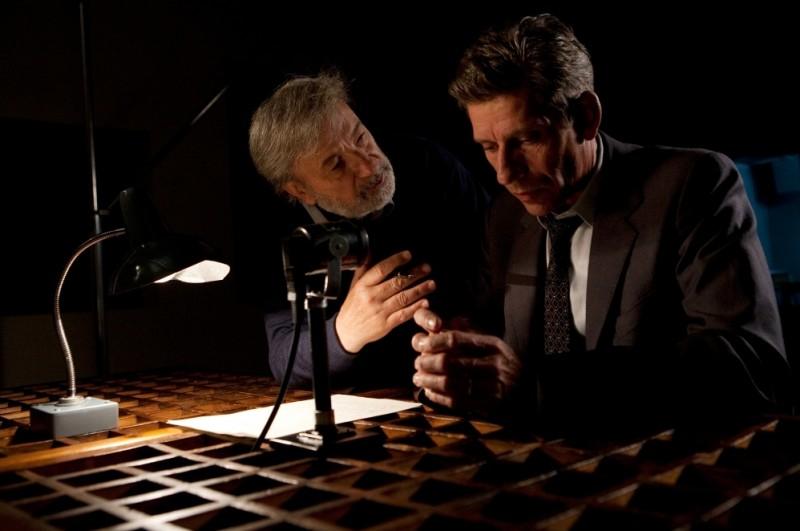 Jacques Gamblin sul set de Il primo uomo insieme al regista Gianni Amelio