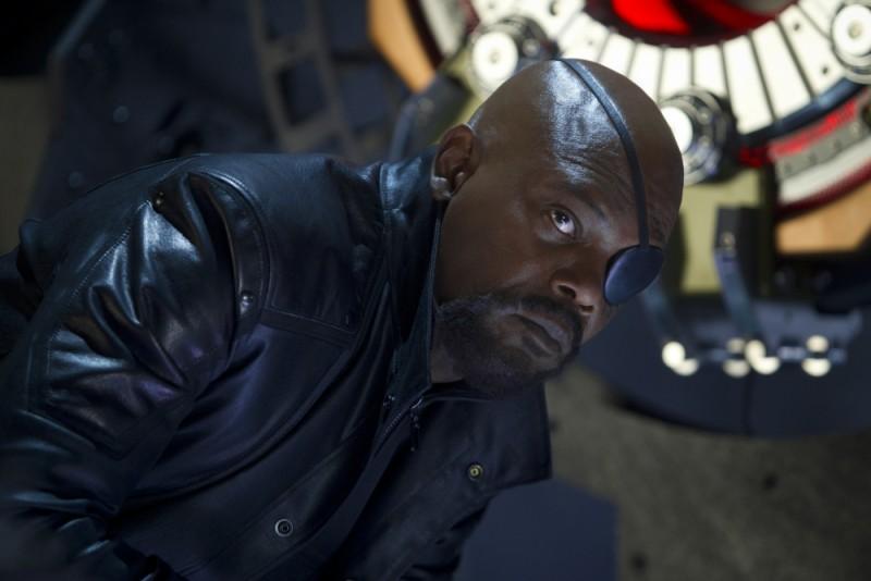 Una bella immagine di Samuel L. Jackson nei panni di Nick Fury tratta dall'avventuroso The Avengers