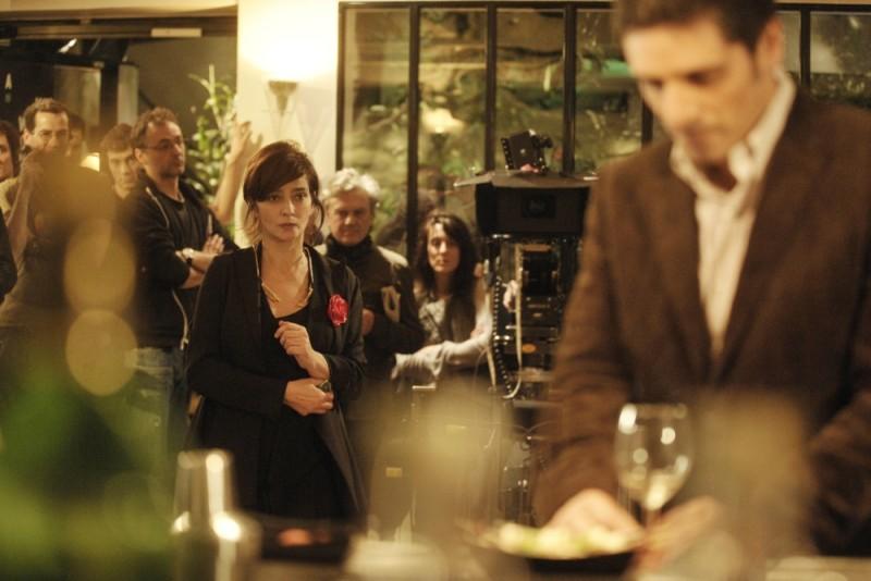 Ciliegine: Laura Morante sul set del film guarda da lontano Pascal Elbé
