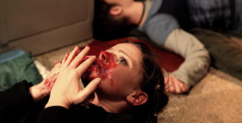 Diaz: Jennifer Ulrich in un'impressionante immagine tratta dal film