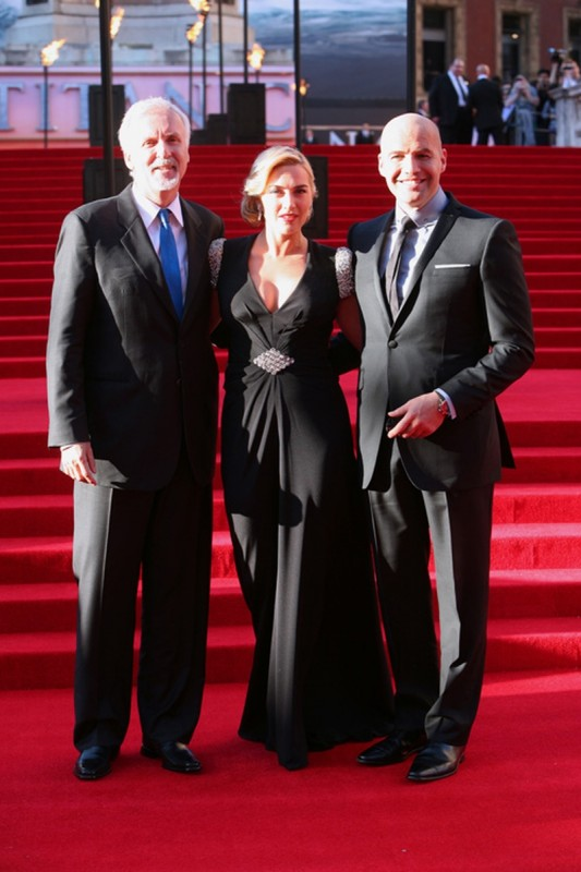 Titanic in 3D: Kate Winslet insieme a James Cameron e Billy Zane sul red carpet della Royal Albert Hall di Londra per la premiere di Titanic 3D