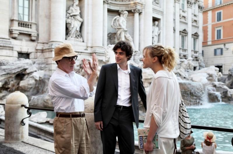 To Rome with Love: Woody Allen sul set del film con Flavio Parenti e Alison Pill