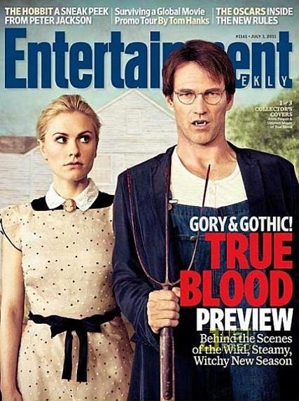 True Blood: una delle tre cover di Entertainment Weekly ispirate ad American Gothic di Grant Wood: Anna Paquin e Stephen Moyer