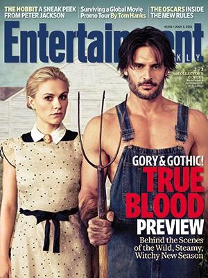 True Blood: una delle tre cover di Entertainment Weekly ispirate ad American Gothic di Grant Wood: Anna Paquin e Joe Manganiello