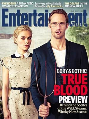 True Blood: una delle tre cover di Entertainment Weekly ispirate ad American Gothic di Grant Wood: Anna Paquin e Alexander Skarsgard