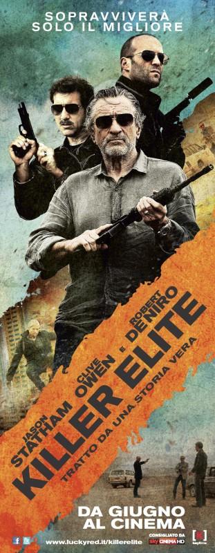 Killer Elite: un poster italiano del film con i tre protagonisti