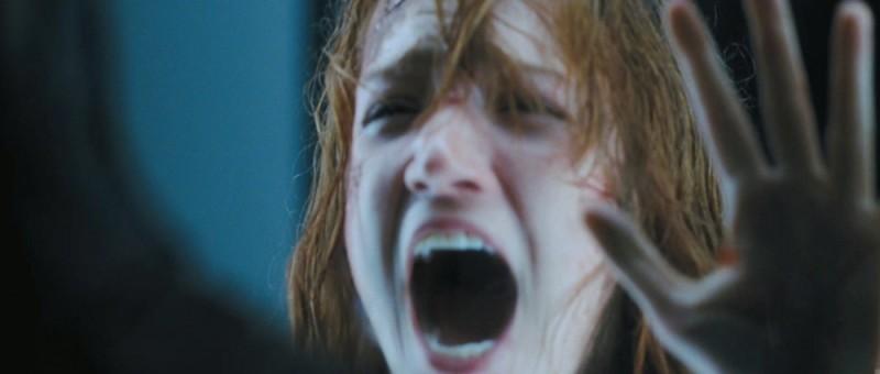 Quella casa nel bosco: l'urlo terrorizzato di Kristen Connolly in una scena del film